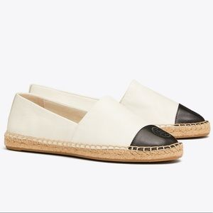 Tory Burch colorblock leather espadrille size 37/7